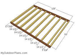 shed floor plans. Building The Floor Frame Shed Plans