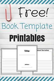 Booklet Template Free Download Stunning Free Book Template Printables ThirdGradeTroop Pinterest