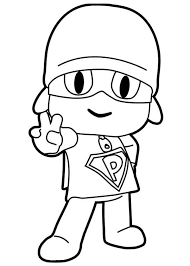 Super Pocoyo Coloring Pages Coloring Pages