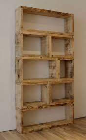 DIY Rustic Bookcase! This is so simple yet effective. 28 modular  construction