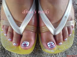 Cute Pedicure Designs Beach Theme Pedicure Design Nail Art Design From Coolnailsart