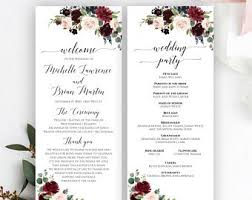Wedding Program Designs Wedding Program Template Etsy