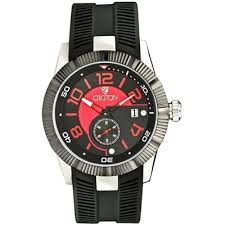 croton watches men s rubber silicone strap cn307282bsrd