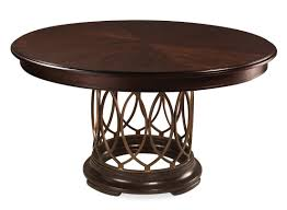 art intrigue round wood top dining table