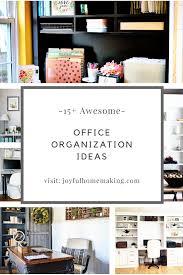 running home office. Office Organization Ideas - Joyful Homemaking. Running A Household Home