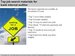 5 top job search materials for bank internal auditor internal audit cover letter