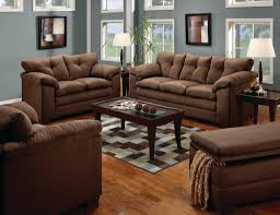Microfiber Living Room Set Luna Chocolate Sofa Amp Loveseat Casual Microfiber Living Room