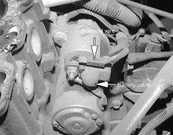 2001 mitsubishi diamante starter located questions location of the mitsubishi 1995 starter