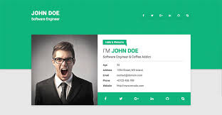 Resume Website Template 15 Best Html Resume Templates For Awesome Personal  Sites Printable