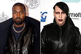 Kanye West Embraces Marilyn Manson ...