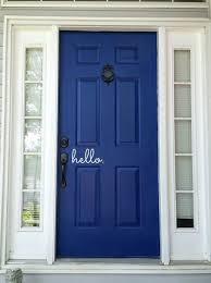 greet your guests before you answer the doorbell