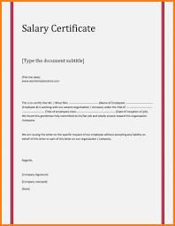 Resume Responsibilities Sample Salary Certificate Letter Doc