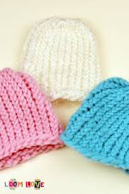 Knit Baby Hat Pattern Circular Needles Extraordinary How To Knit A Baby Hat On A Round Loom