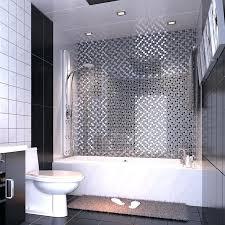 painting glass bathroom tiles black art hand painted design glass mosaic tile silver metal coating glass