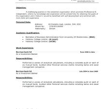 Investment Banking Resume Format Banker Skills On Private Regarding