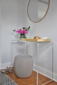lucite console table. Lucite Console Table O