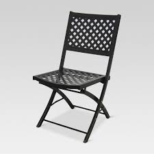woven metal furniture. woven metal folding patio chair - threshold™ furniture n