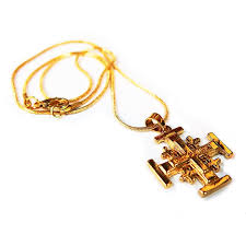 jerum cross pendant gold plated