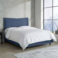 Outstanding Blue Beds Headboards Bedroom Furniture The Home Depot Intended  For Navy Blue Bed Frame Ordinary