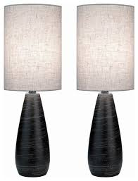 mini table lamps with linen shades set of 2