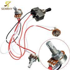 electric guitar wiring harness kit 3 way toggle switch 1 volume 1 electric guitar wiring harness electric guitar wiring harness kit 3 way toggle switch 1 volume 1 tone 500k pot electric