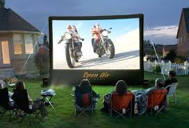 outdoor tv projector setup best speaker how to experience home theater outdoors decorating enchanting open air cinema backyard theaters are p