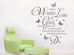 Wandtattoo Glaube An Wunder Liebe Und Glück Wandtattoode