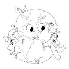 Earth Day Coloring Page Coloriages Et Techniques De Dessin
