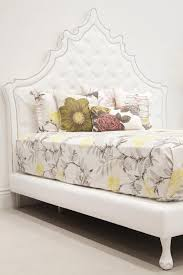 homely design tufted headboard full size casablanca bed in white faux leather i roomservice headboards diy pink