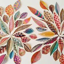 i love the patterns and colors on these handpainted leaves lovely painted leaves from the