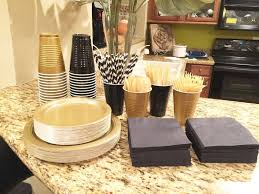 black white and gold birthday party ideas practical liveable 0