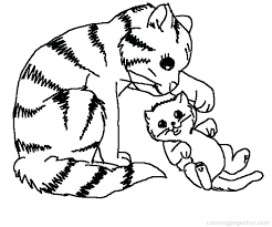 Kitty Cat Coloring Page Awesome Kitty Cat Coloring Pages For Line