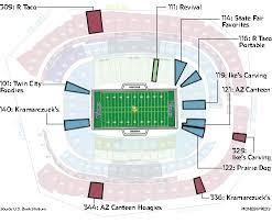 New Minnesota Vikings Stadium Seating Chart Minnesota Vikings Stadiums Best Food Nine To Try