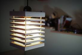 picture of modern wooden chandelier