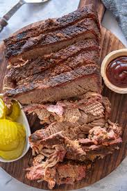 how to smoke a brisket garnished plate