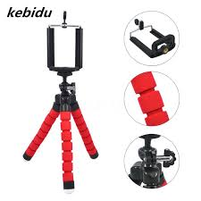 kebidu portable mini flexible tripod phone tablet stand accessories selfie stick monopod for iphone 7
