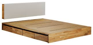 king platform storage bed. Mash Lax Platform Solid Wood Storage Bed, King With Headboard King Platform Storage Bed