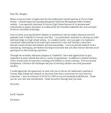 Cover Letter For High School Students Ideas Of Math Teacher Cover