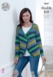 Sweater And Cardigan In King Cole Riot Dk 5007 Digital Pdf