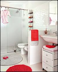 Bathroom Red And White Bathroom Decor Towelswhite Black Bedroom ...