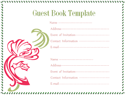 Birthday Guest Book Template Rome Fontanacountryinn Com