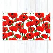 red poppy rug red poppy pattern rug