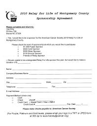 sponsorship agreement sponsorship agreement