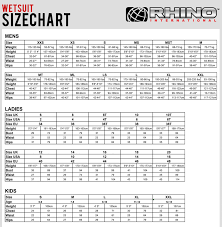 Billabong Size Chart Uk Wetsuit Size Charts For All Known Brands 360guide