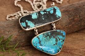 large turquoise pendant necklace artisan