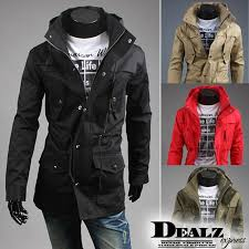 whole men s coat trench coat jacket overcoat military stylish casual slim fit designer pocket mens