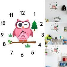 clock pvc diy silent cartoon wall clock