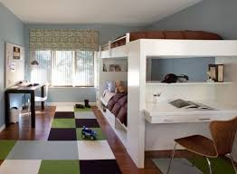 A combination of bunk and loft bed designs