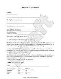 Renters Lease Application Lease Application Free Rental Application Rocket Lawyer