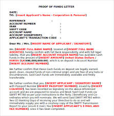 7 Proof Of Funds Letters To Download For Free Sample Templates